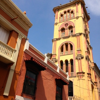 Tower in the walled city, Cartagena