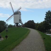 Windmills, belgium, bruges